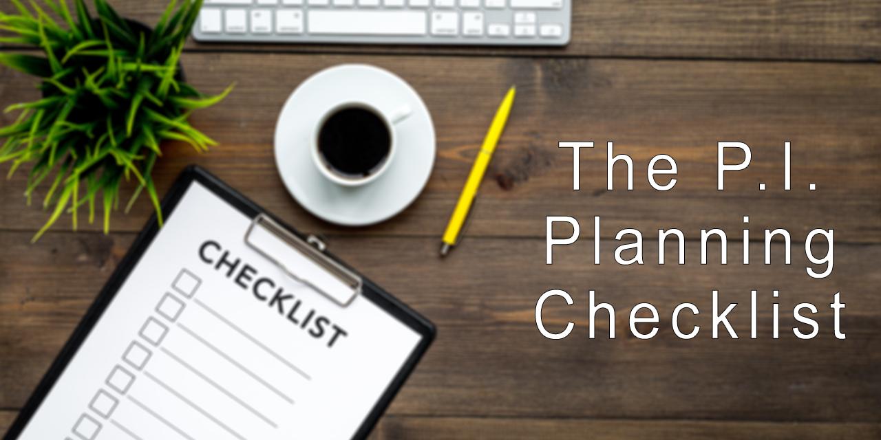 PI Planning Checklist